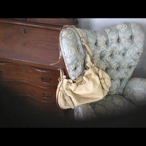 Kate Landry Leather Cream Bag